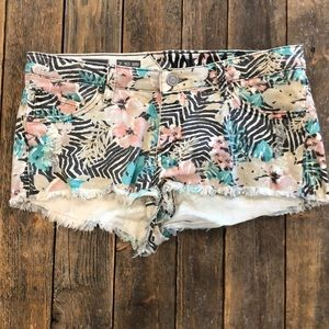 Volcano Floral Jean Shorts